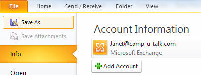 how to add two email accounts in outlook 2007